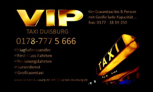 Sponsoren: VIP Taxi Duisburg