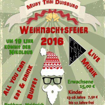 Plakat Weihnachtsfeier 2016