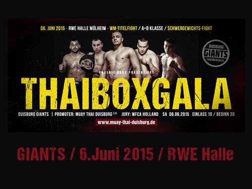 THAIBOXGALA GIANTS 2015 – Muay Thai Duisburg