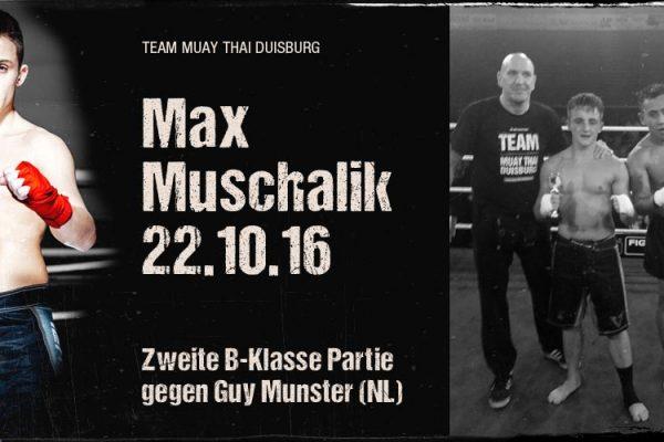 zweite B-Klasse Partie für Max Muschalik am 22.10.16
