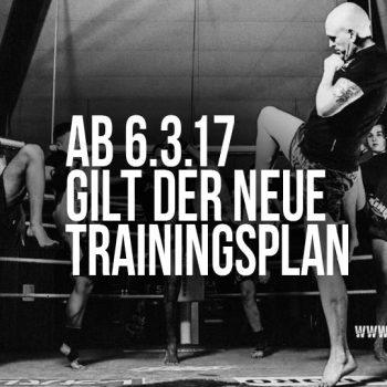 Neuer Trainingsplan ab 6.3.17, Muay Thai Duisburg