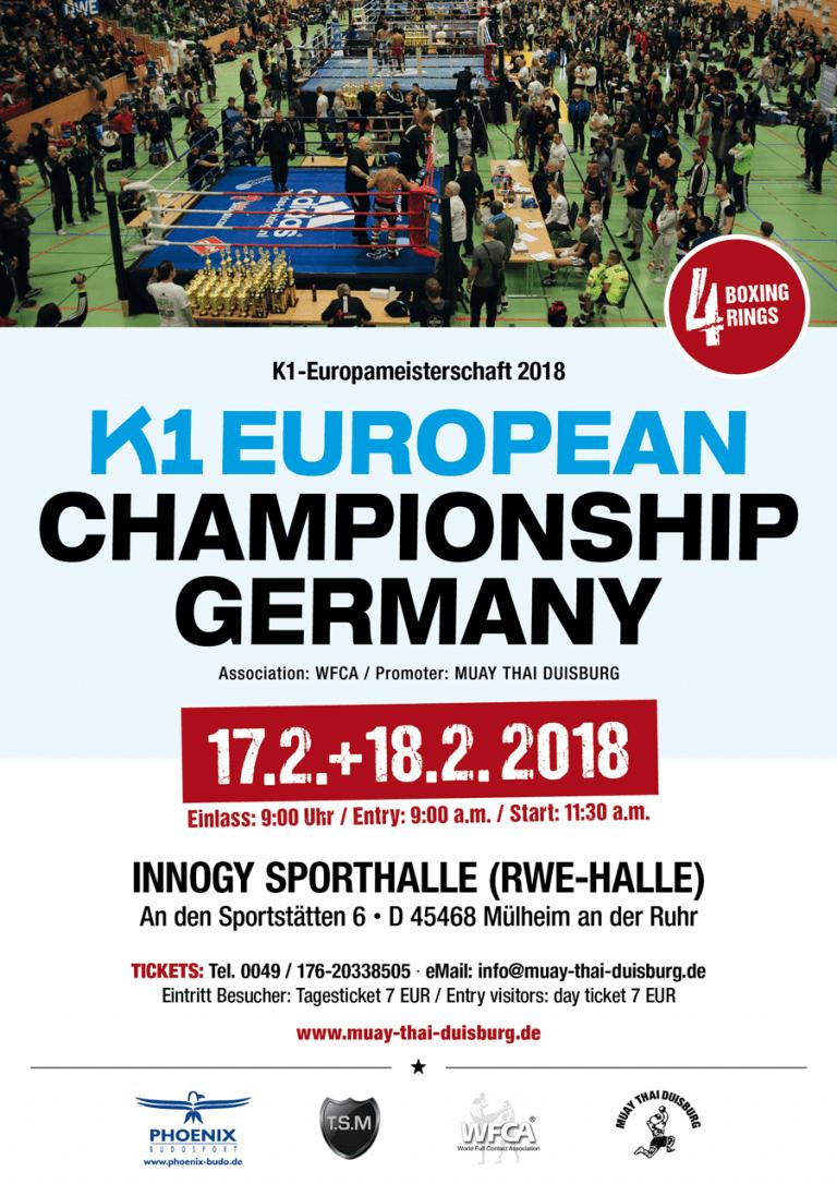 K1 European Championship Germany 2018 / Februar 17+18 / Innogy Hall