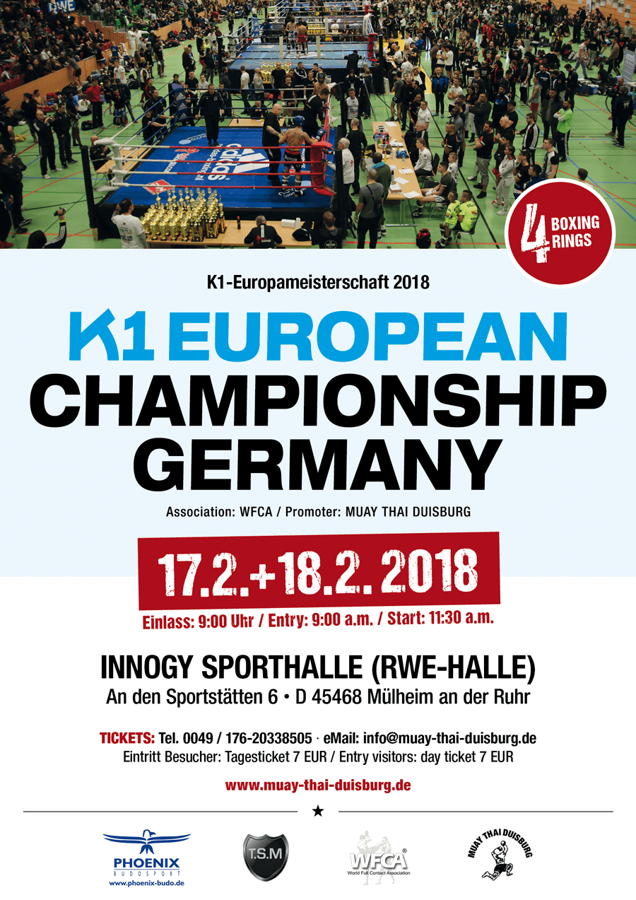 K1 European Championship Germany 2018 / Februar 17+18 / Innogy Hall